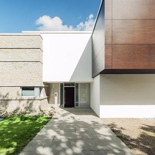 Genial Idée De Décoration Pour Une Porte Du0027entrée Design De Taille Moyenne Avec Un  Mur