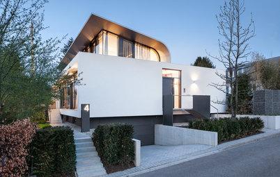 Ein großzügiges Wohnhaus mit aufgesetzter Welle