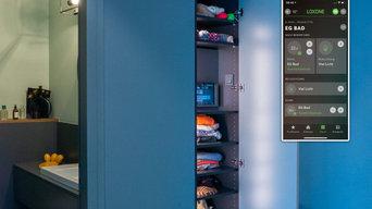 Zentrales iPad zur Bedienung im Entrée