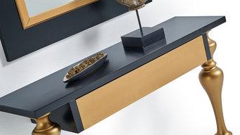 Consola Modelo Retto de la Empresa Anzadi en madera de Haya