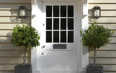 Exteriörer: 10 krispigt fräscha ytterdörrar i vitt