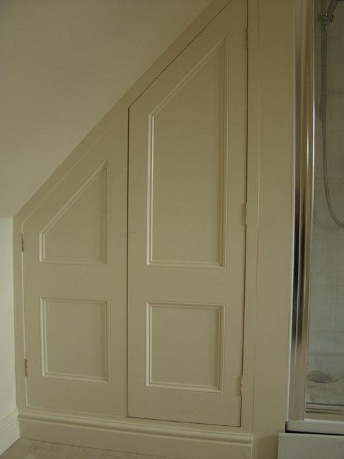 Door under stairs houzz for Door under stairs