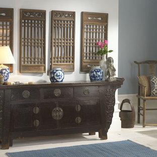 Idéer för orientaliska entréer, med blå väggar