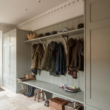 Coat Hanging in Boot Room for a Gloucestershire House