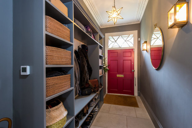 Transitional Entrance by Lally Walford Interiors
