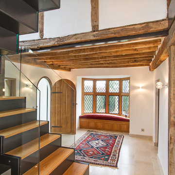 Entrance Hall featuring a Bespoke Staircase Chiddingfold, Surrey