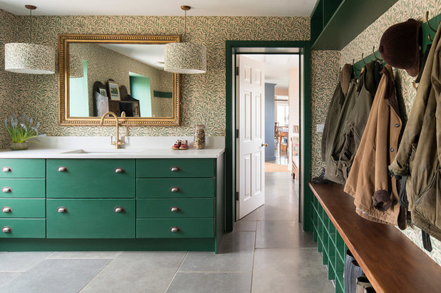 Farmhouse Entry by Lucy Cunningham Interiors Ltd