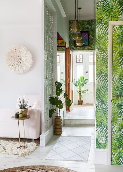 Eclectic Entrance by Emilie Fournet Interiors