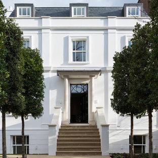 Traditional front door in London with a single front door and a black front door.