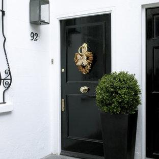 elegant front doors glass elegant front door photo in london with black door houzz
