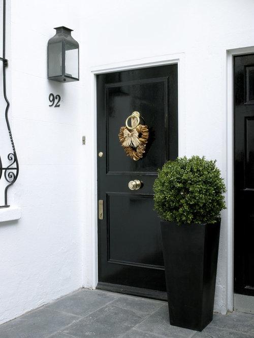 Black Front Door Houzz