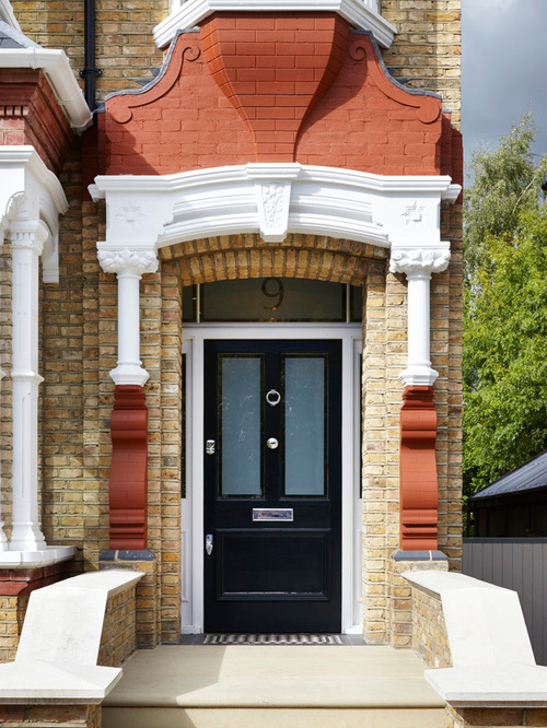 Black front door houzz for Front door designs indian houses