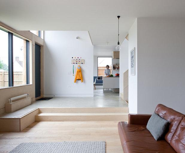 cr er une entr e dans un espace ouvert. Black Bedroom Furniture Sets. Home Design Ideas