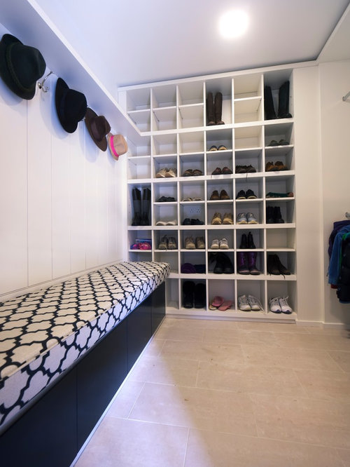 Built In Shoe Cabinet Houzz