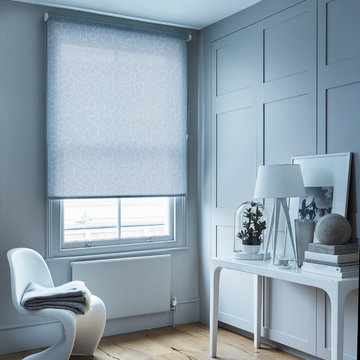 Mitre Ash Roller blinds from the House Beautiful Roller blind collection by Hill