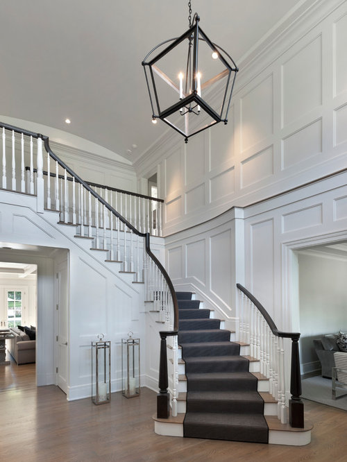 Houzz Large Foyer : Large transitional entryway design ideas remodels photos