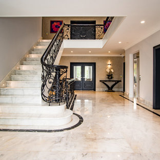 Expansive contemporary entrance in Buckinghamshire.
