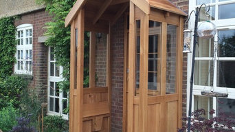 Oak porch and front door, Harpenden