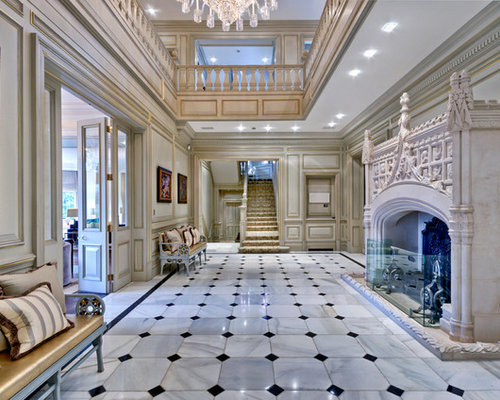 Entrance Design Ideas, Renovations & Photos with Marble ...