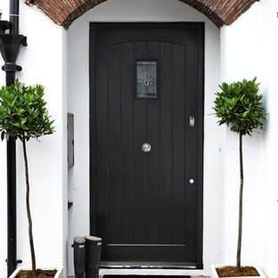 This Is An Example Of A Contemporary Front Door In London With Single