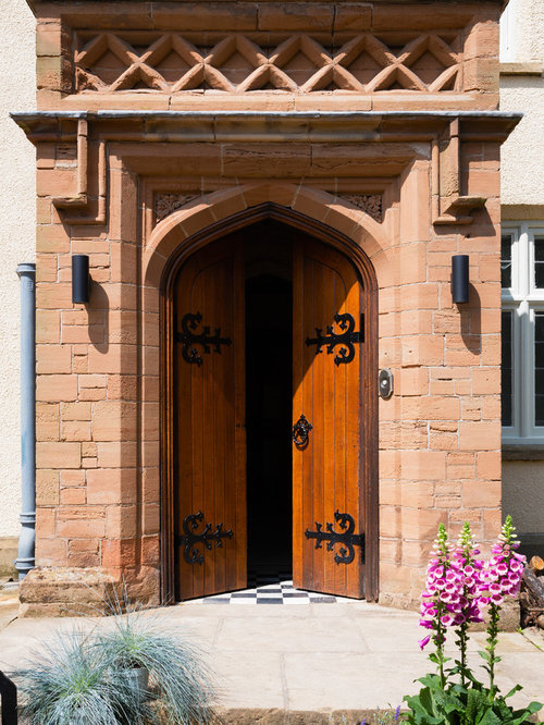 This Is An Example Of A Traditional Front Door In Surrey With A Double Front  Door