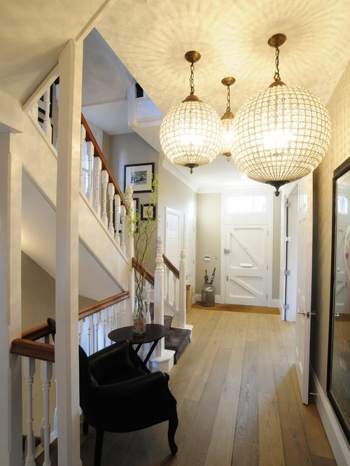 Ex&le of a classic entryway design in Oxfordshire & Entrance Hall Lighting | Houzz azcodes.com