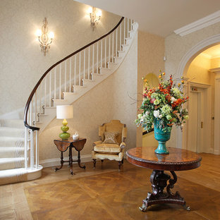 Design ideas for a traditional hallway in West Midlands.