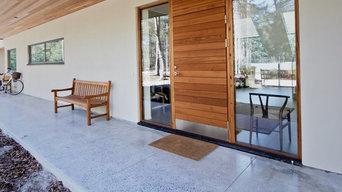 Långö ytterdörr, liggande panel