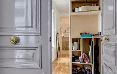 Houzz Tour: Plywood blir nytt ledord i en klassiskt skön Paris-lägenhet
