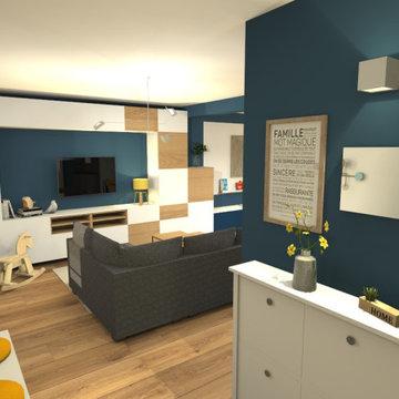 Aménagement et décoration pour Salon-séjour familial