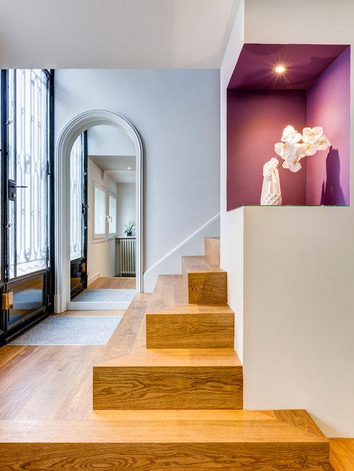 Entr e contemporaine photos et id es d co d 39 entr es de Couleur porte interieure avec mur blanc