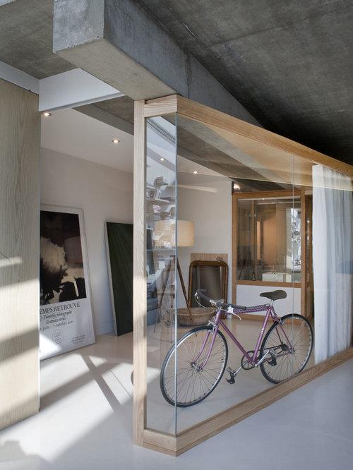Hall d\'entrée avec un mur blanc Paris : Photos et idées déco de ...