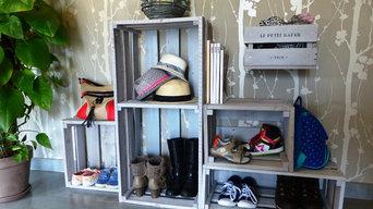 Meuble à chaussures esprit récup'