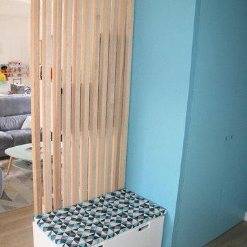 Modernisation de la pièce vie d'une maison
