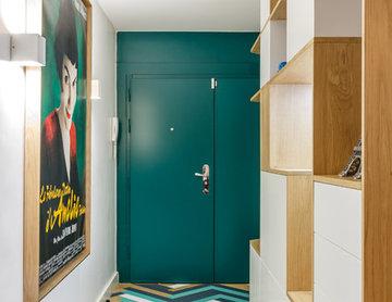 Rénovation épurée pour cet appartement sur l'île de la Jatte