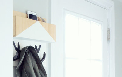 DIY: Make a Wooden Wall Organizer to Curb Entryway Clutter