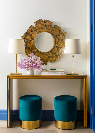 Contemporary Entrance by Bennett Leifer Interiors