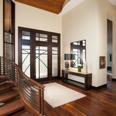 Contemporary Entry by Magleby Construction