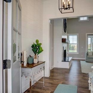 deco mur blanc porte grise. Black Bedroom Furniture Sets. Home Design Ideas