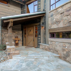 Rustic Entry by Pinnacle Mountain Homes