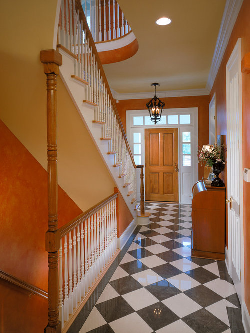 Foyer Stairs Reviews : Open basement stair houzz