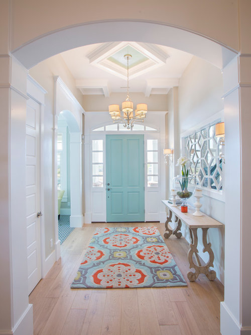 Entryway   Mid Sized Transitional Medium Tone Wood Floor And Beige Floor  Entryway Idea In. Save Photo. JCD Custom Home Design
