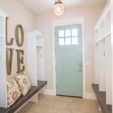 Transitional Entry by Joe Carrick Design - Custom Home Design