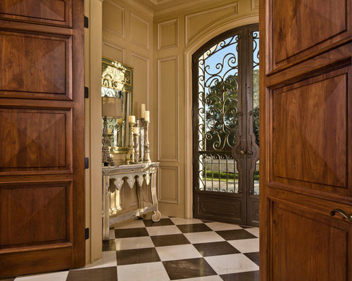 Inspiration for a timeless double front door remodel in Dallas with a metal front door & Front Entry Door | Houzz pezcame.com