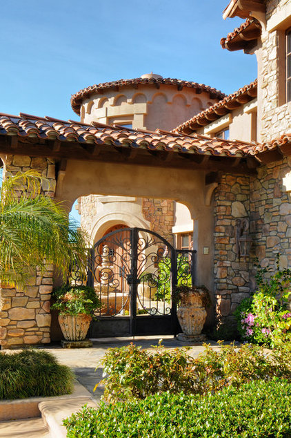 Mediterranean Entry by Elevation Architectural Studios