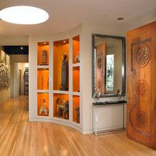 Contemporary Entry by Cheri Belz, Architect