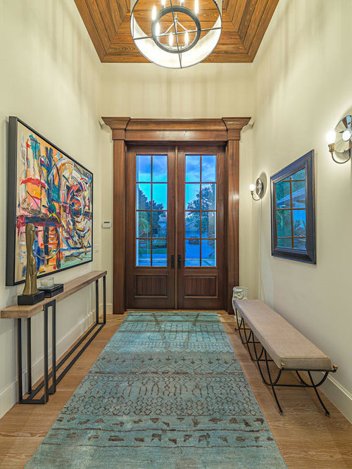 Narrow spaces entryway design ideas renovations photos for Narrow double front doors