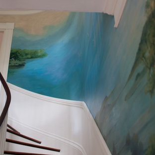 80 year old mural restoration with before and after photos