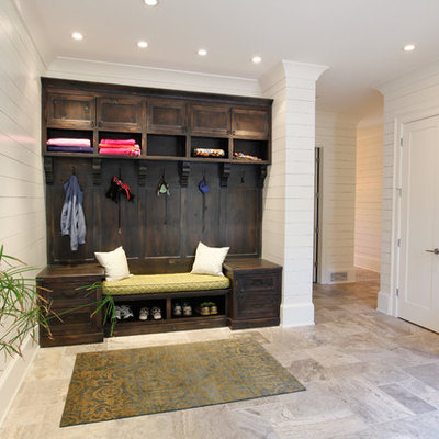Inspiration for a transitional mudroom remodel in Atlanta