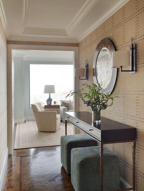 15 Entrance Hall Table Styles To Marvel At: Ottomans Under Console Home Design Ideas, Pictures